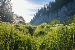 Lever de soleil dans les montagnes, beau paysage Image stock