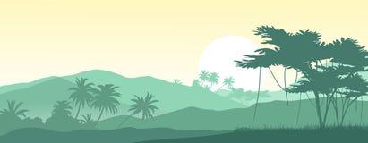 Lever de soleil dans les montagnes tropicales Illustration Libre de Droits