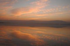 Lever de soleil dans les nuages Images libres de droits