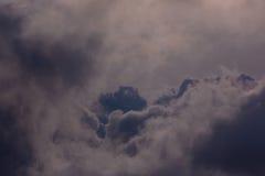 Lever de soleil dans les nuages chez la Crimée Photo libre de droits