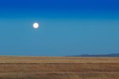 Lever de soleil dans les steppes Images libres de droits