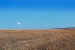 Lever de soleil dans les steppes Photo stock