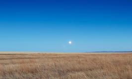 Lever de soleil dans les steppes Photographie stock