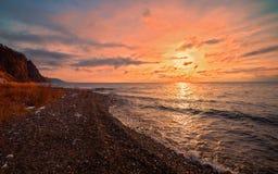 Lever de soleil dans les sud de Baikal Photo libre de droits