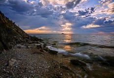 Lever de soleil dans les sud de Baikal Images libres de droits
