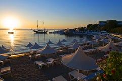 Lever de soleil dans Rhodos Photo stock