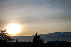Lever de soleil dans Sierra Nevada Photos libres de droits