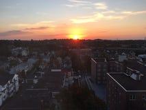 Lever de soleil dans Stamford, le Connecticut Images stock