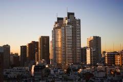 Lever de soleil dans une ville 2 Photos libres de droits