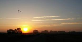 Lever de soleil dans Weirsdale photographie stock libre de droits