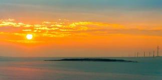 Lever de soleil dans Yambol, Bulgarie image libre de droits