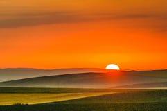 Lever de soleil dans Yambol, Bulgarie image stock