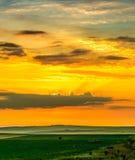 Lever de soleil dans Yambol, Bulgarie photo stock