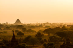 Lever de soleil de Bagan images libres de droits