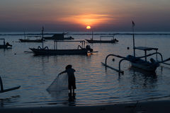 Lever de soleil de Bali Image libre de droits
