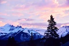 Lever de soleil de Banff Photos stock