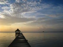 lever de soleil de Belize Image libre de droits