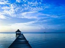 lever de soleil de Belize photo libre de droits