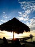 lever de soleil de Belize Photographie stock libre de droits