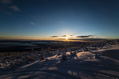 Lever de soleil de Bezbog Photographie stock