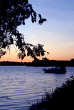 Lever de soleil de bord de lac photographie stock libre de droits