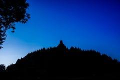 Lever de soleil de Borobudur, Java, Indonésie Photographie stock