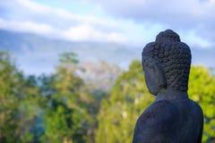 Lever de soleil de Borobudur, Java, Indonésie Photos stock