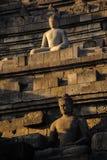 Lever de soleil de Borobudur, Java, Indonésie Images stock