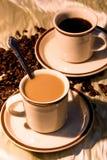 Lever de soleil de café Photographie stock libre de droits