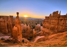 Lever de soleil de canyon de Bryce images stock