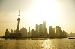 Lever de soleil de Changhaï Photographie stock libre de droits