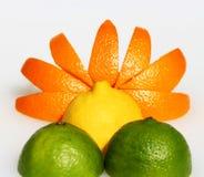 Lever de soleil de citron Photo libre de droits