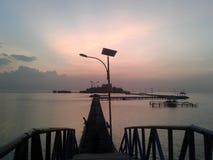 Lever de soleil de Cloudly Images libres de droits