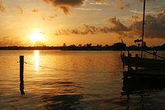 Lever de soleil de compartiment Photo libre de droits