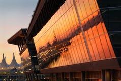 Lever de soleil de Convention Center, Vancouver Photos stock