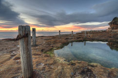 Lever de soleil de Coogee du sud, Sydney Australia Image stock