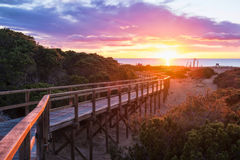Lever de soleil de Costa Blanca photographie stock libre de droits