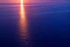 Lever de soleil de coucher du soleil au-dessus de la mer Méditerranée Photographie stock libre de droits