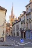 lever de soleil de Dijon d'église Photographie stock libre de droits