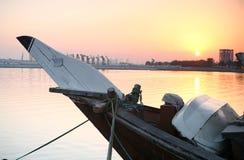 Lever de soleil de Doha Photographie stock libre de droits