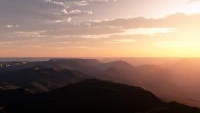 Lever de soleil de désert Image stock