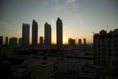 Lever de soleil de Dubaï photo stock