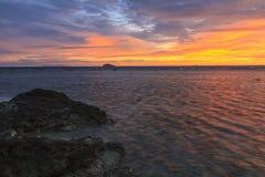 Lever de soleil de Fijian Photographie stock