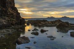 Lever de soleil de Fijian Photo libre de droits