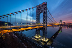 Lever de soleil de George Washington Bridge images stock