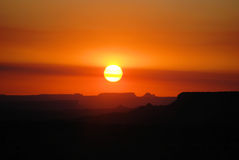 Lever de soleil de gorge Image libre de droits