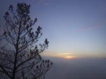 Lever de soleil de Guntur de bâti Image libre de droits