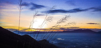 Lever de soleil de Guntur de bâti Photo libre de droits