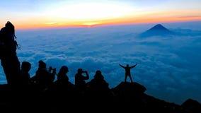 Lever de soleil de haute altitude du haut du Guatemala Photo libre de droits