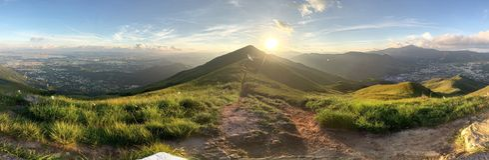 Lever de soleil de Kai Kung Leng Image libre de droits
